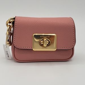 Coach Mini Cassidy Turnlock Coin Case Bag Keychain